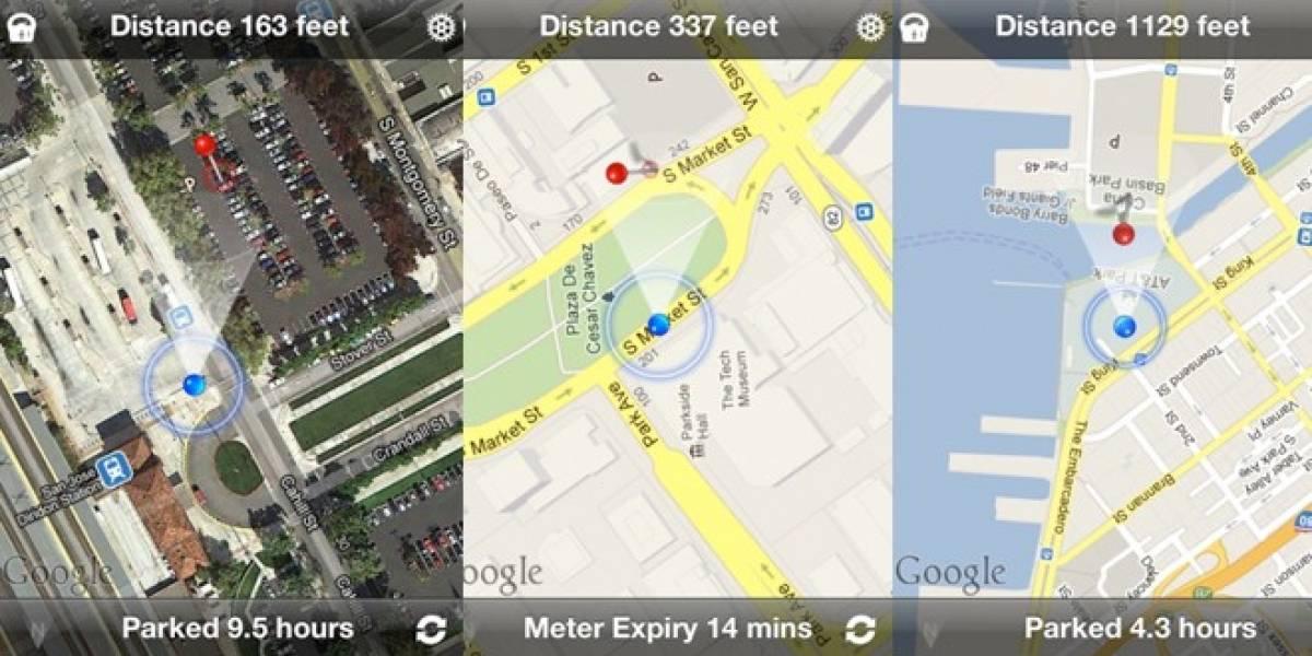 Encuentra dónde está tu auto estacionado con esta app para iPhone