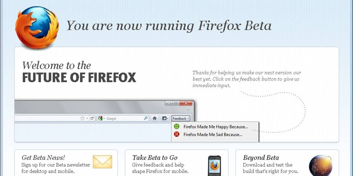 Firefox 5 Release Candidate disponible para descarga