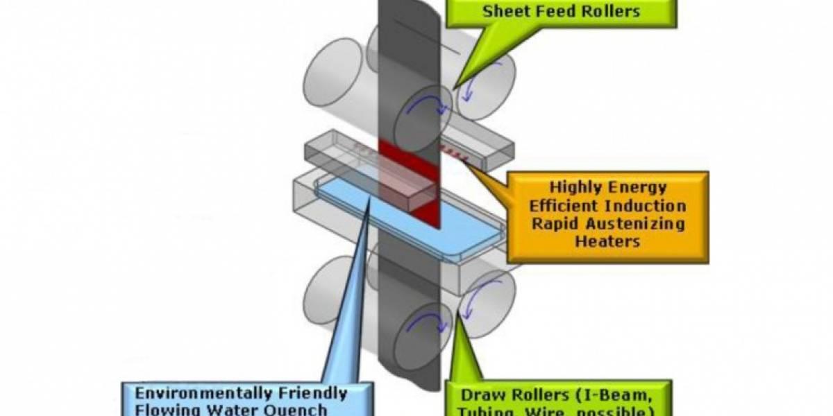 Nuevo acero casero es más sólido, liviano y energéticamente eficiente que el tradicional