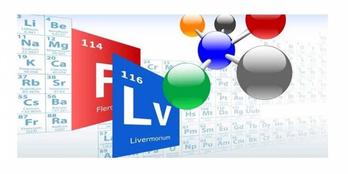 Anoten: Los nombres definitivos de los nuevos elementos son flerovio y livermorio