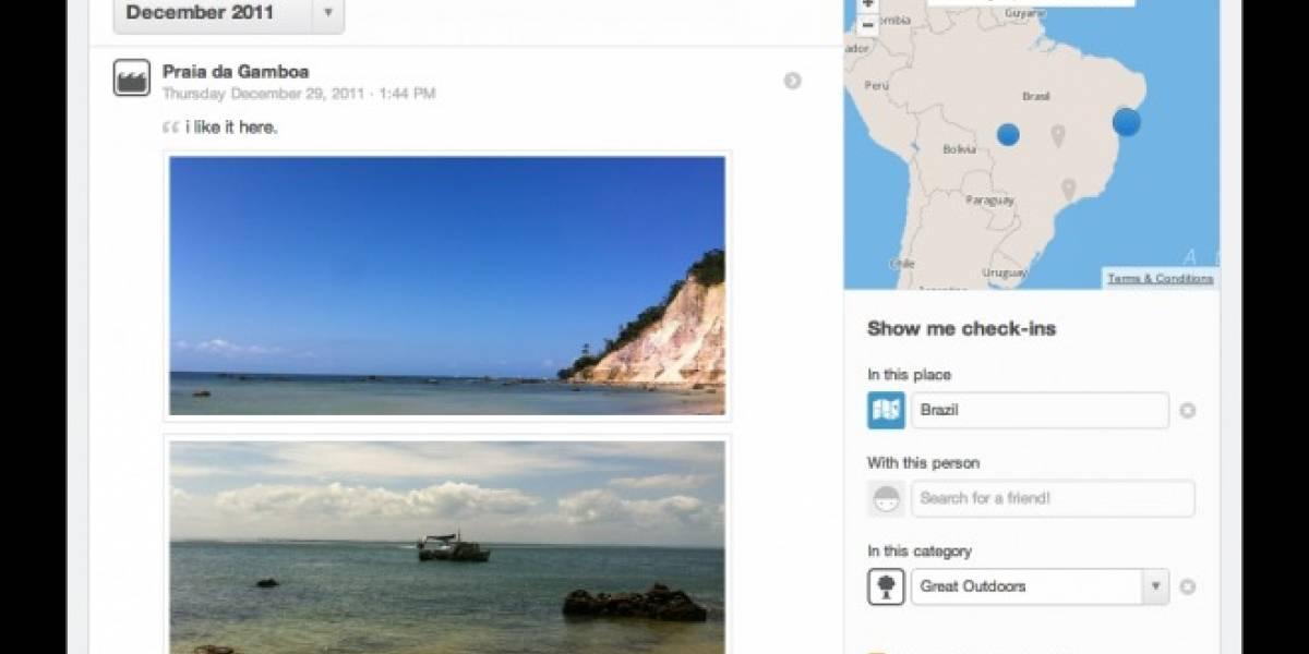 Foursquare añade historial con todos tus check-ins