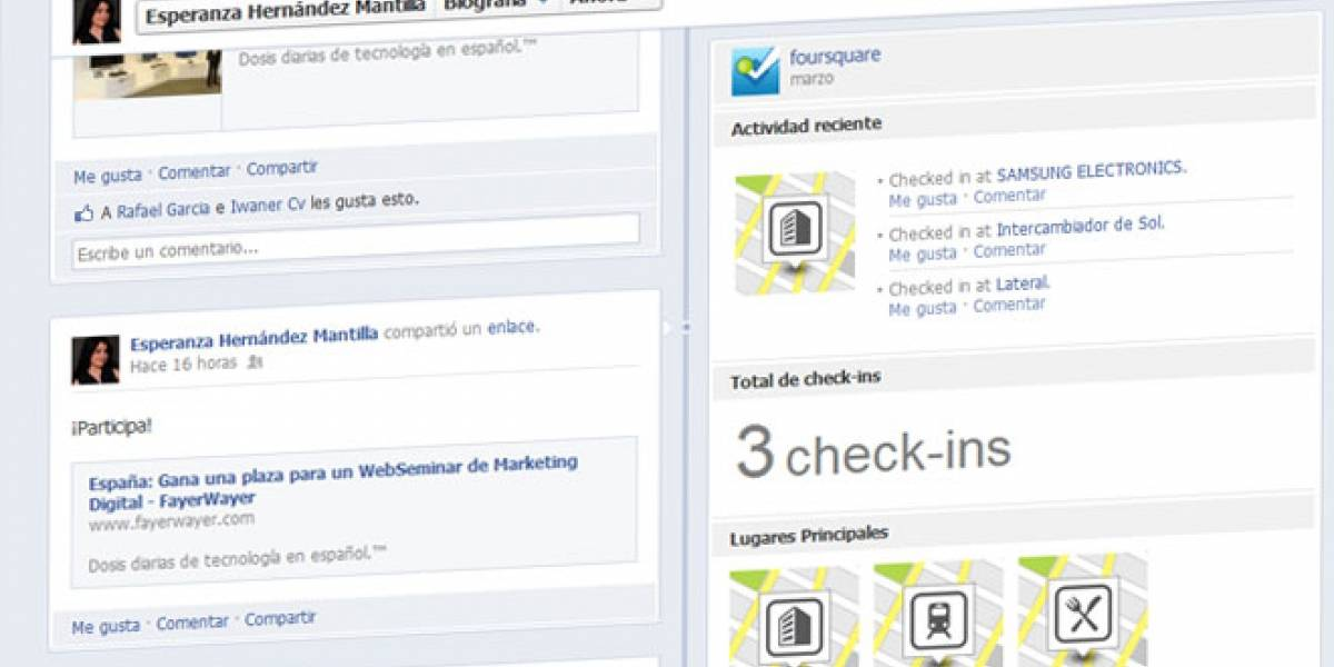 Foursquare se pone guapo para Facebook