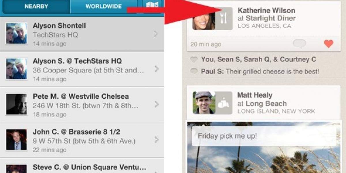 Foursquare se actualiza y se vuelve mucho más visual e inteligente