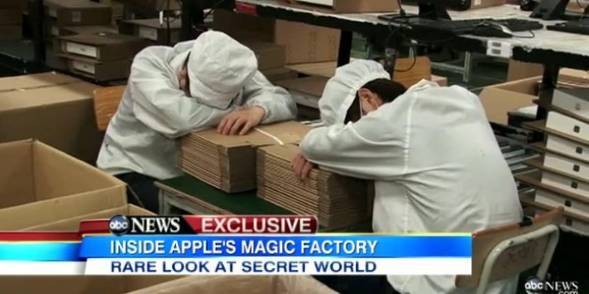 Fin del Misterio: En exclusiva reporteros de la cadena ABC entran a la fabrica de Foxconn