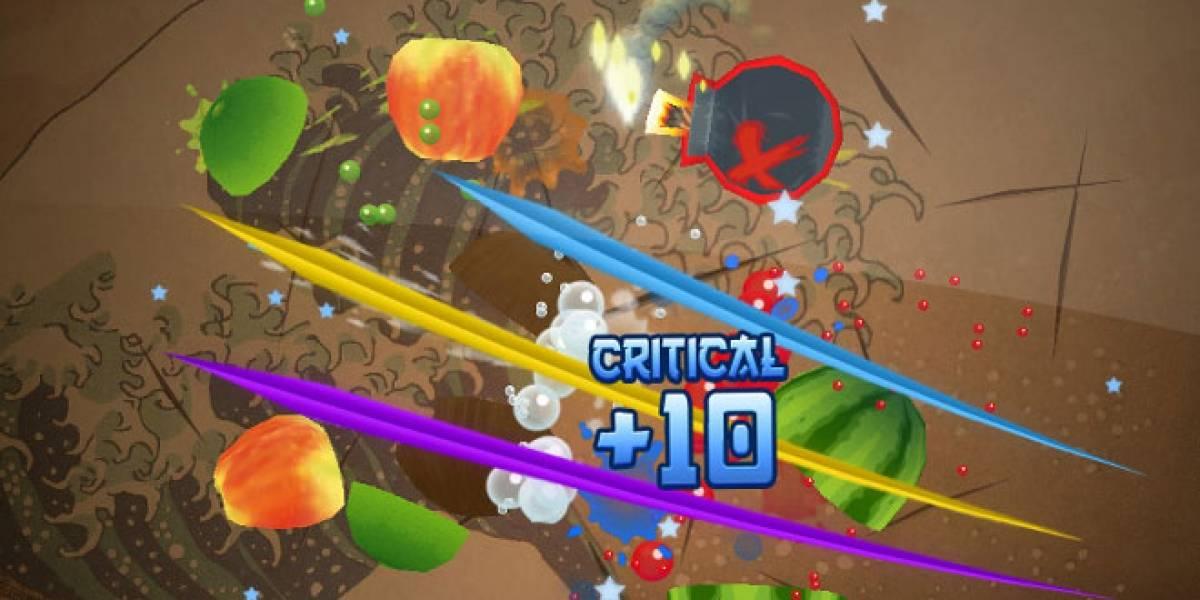 Un gato puede jugar mejor que tú Fruit Ninja
