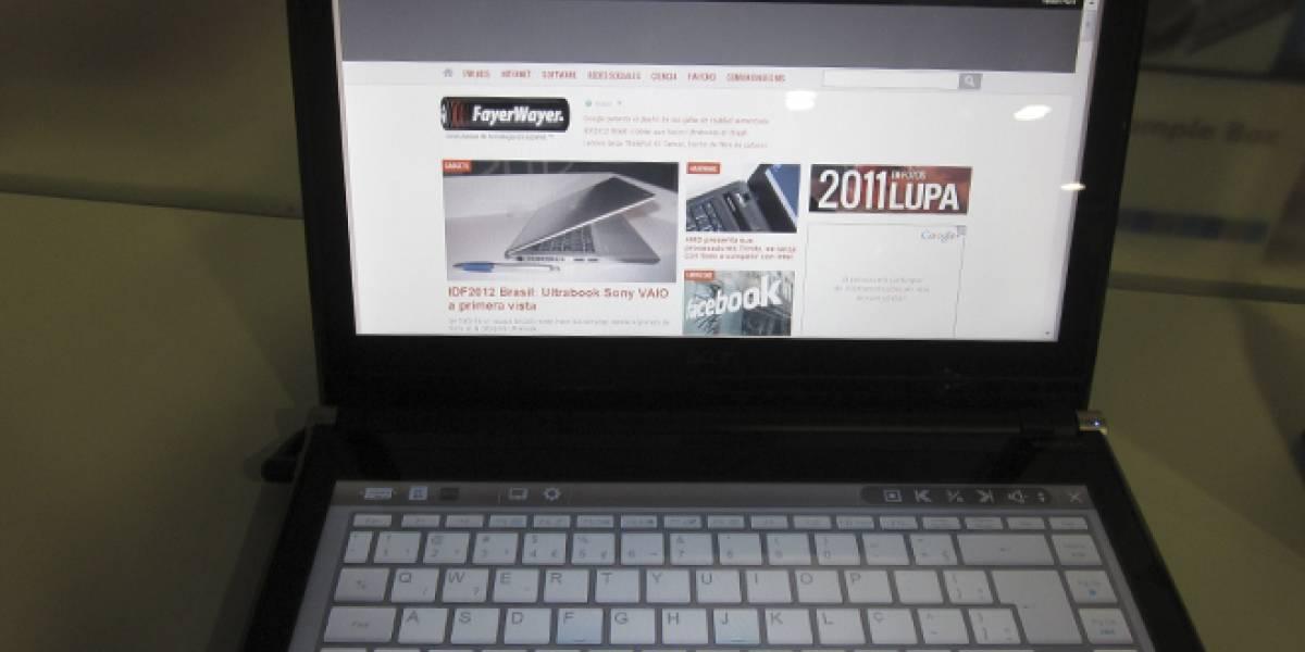 El 10% de los notebooks Acer y ASUS tendrán pantalla táctil este año