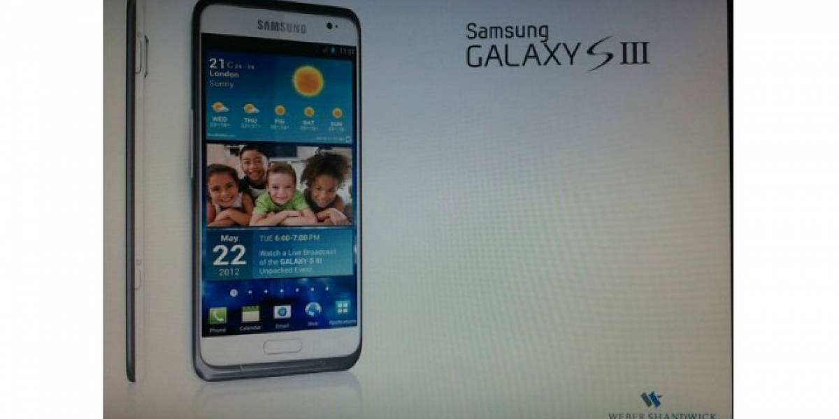 Se filtra imagen y fecha de lanzamiento para el Samsung Galaxy S III