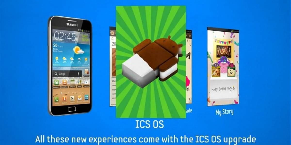 Samsung Galaxy Note comienza a recibir su porción de Ice Cream Sandwich