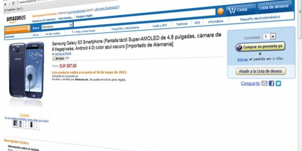 España: Ya puedes reservar el Galaxy S III en Amazon