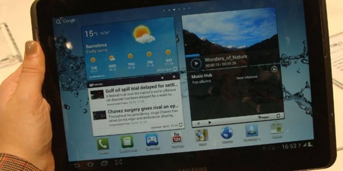 Samsung comienza a actualizar su linea de tablets a Ice Cream Sandwich
