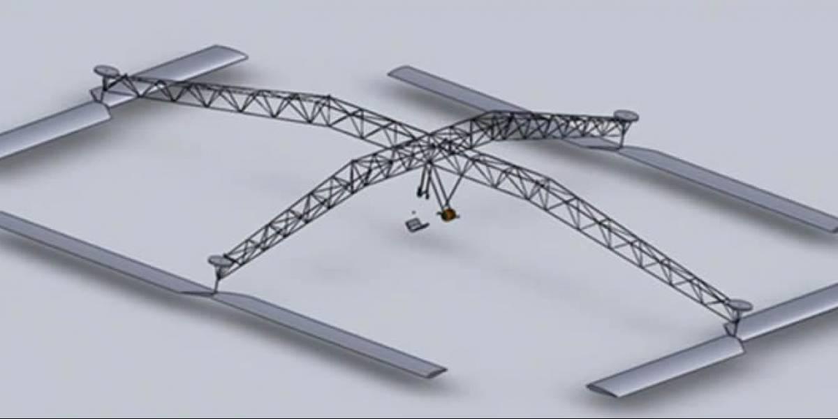 Este helicóptero a pedales pretende entrar en la historia de la aviación