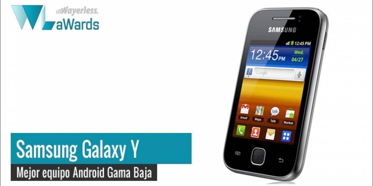 WL aWards 2011: Samsung Galaxy Y, mejor equipo Android gama baja del año