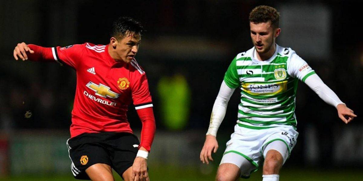 Debut soñado: Alexis Sánchez dio una asistencia en goleada del United por FA Cup