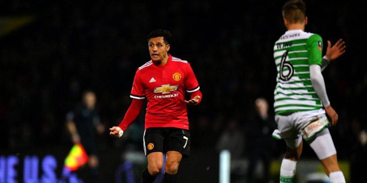 Alexis Sánchez ya demostró talento en su debut con el United