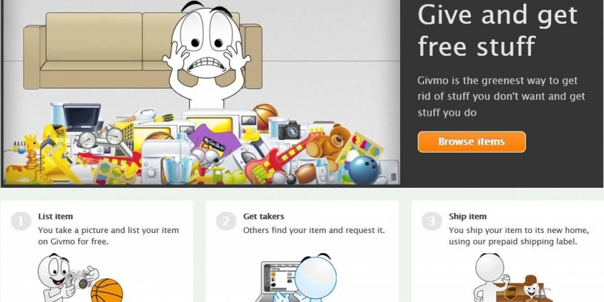 Givmo: La plataforma para regalar todas esas cosas que ya no quieres