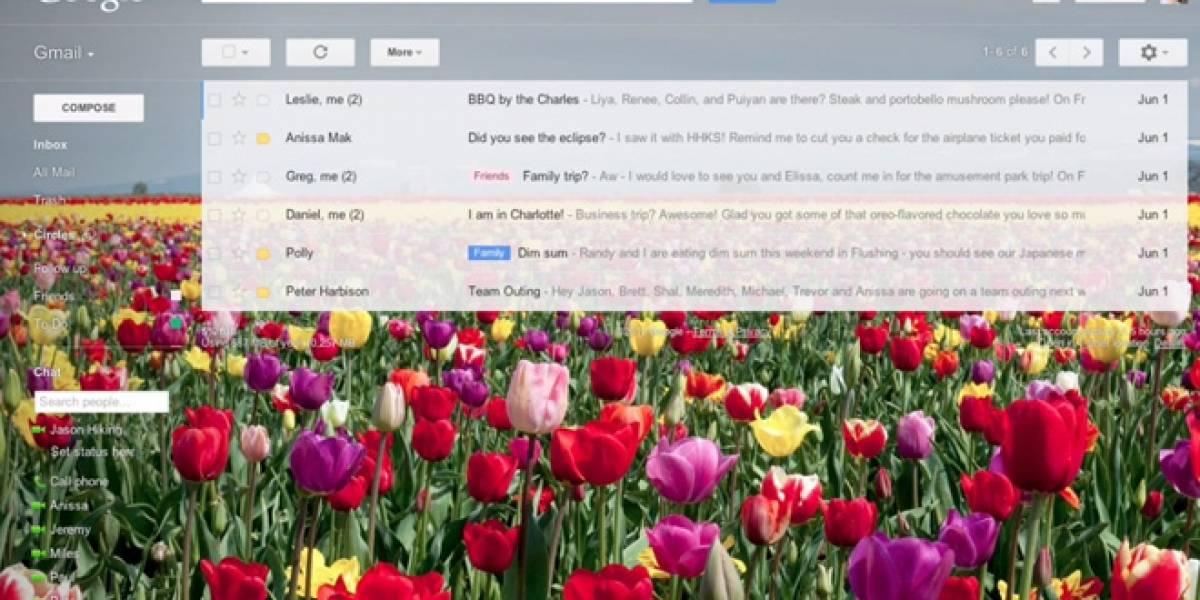 Gmail agrega la opción de elegir el fondo que quieras