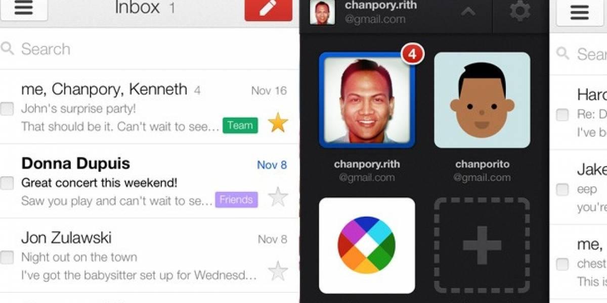 Google lanza Gmail 2.0 para iPhone, soporta múltiples cuentas