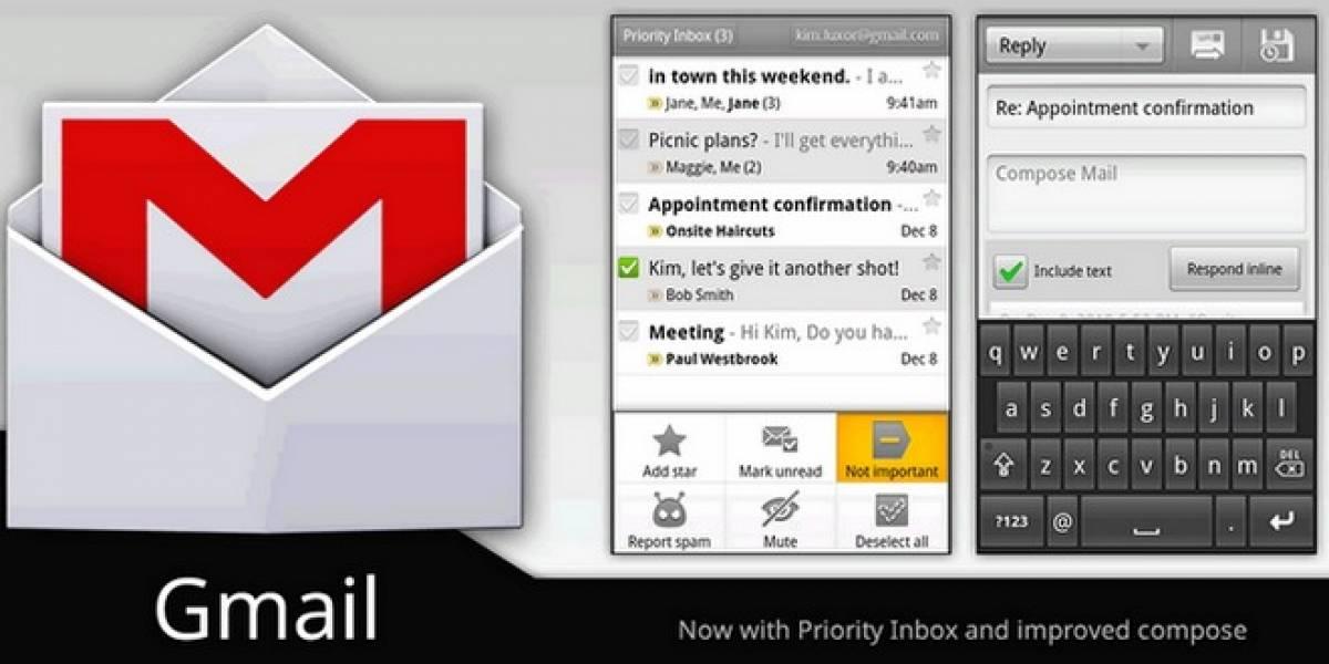 Gmail para Android se actualiza para ofrecer una interfaz ICS a usuarios de Honeycomb