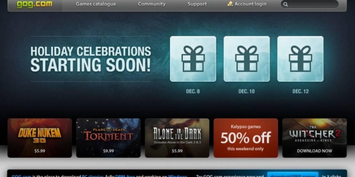 Ofertas navideñas en GOG incluyen (casi) todo su catálogo con 50% de descuento