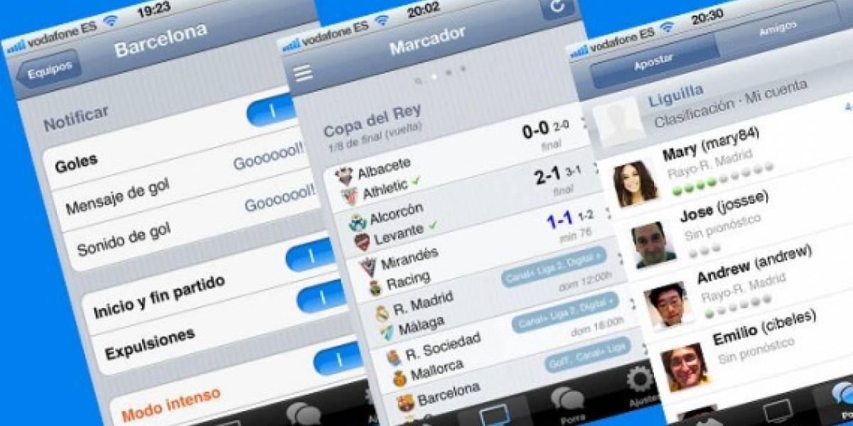 España: iGoles ahora se llama Goles Messenger y está disponible para Android e iOS