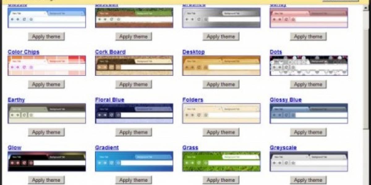 Google Chrome ya tiene temas oficiales