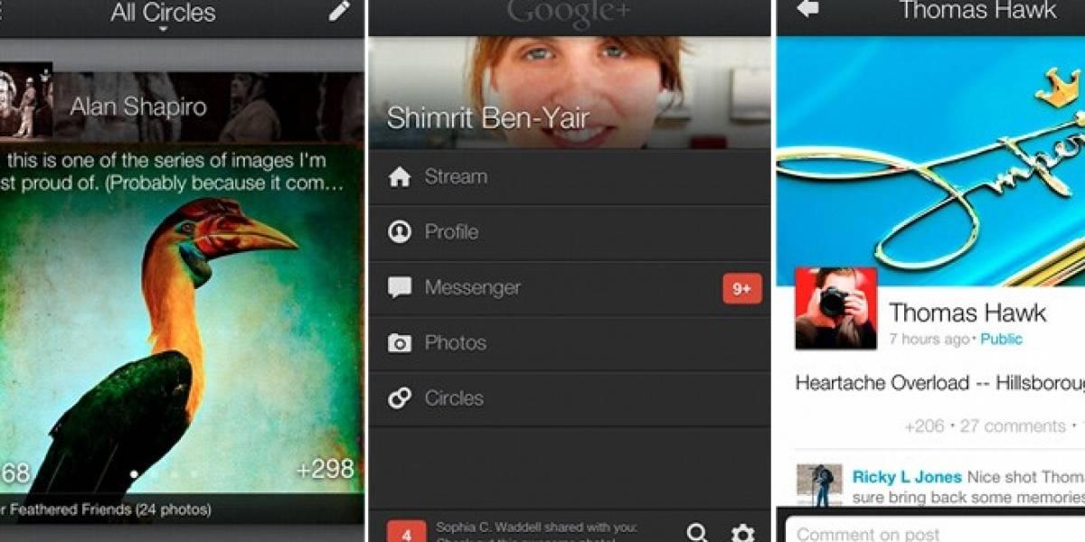 Google+ anuncia que ahora tiene aplicación web