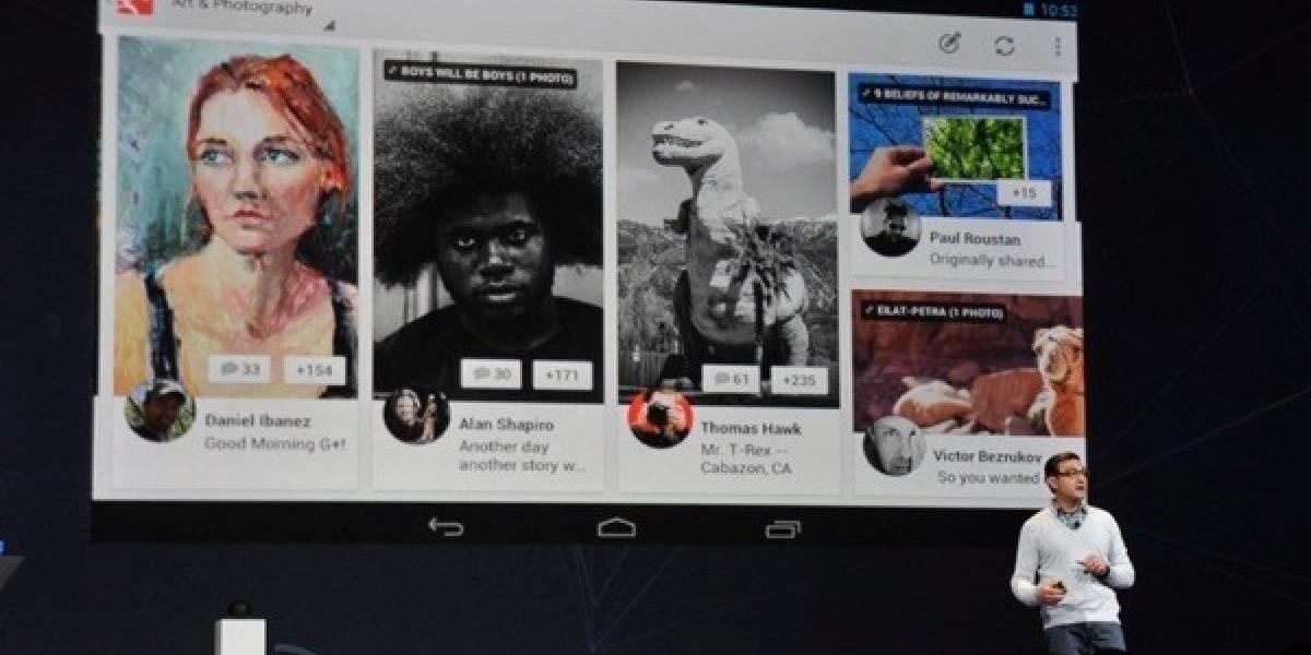 Google+ disponible para tablets Android a contar de hoy, iPad próximamente