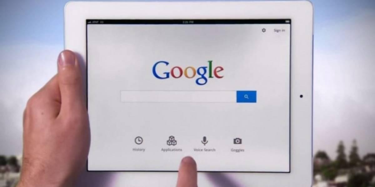 Google Search se actualiza con mejoras para el iPad