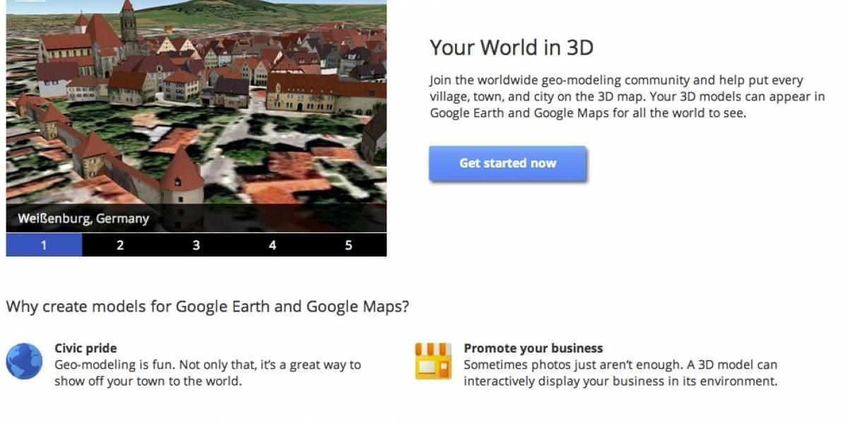 Google te convierte en arquitecto con Tu mundo en 3D