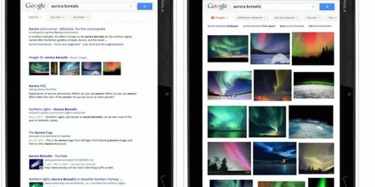 La búsqueda de imágenes de Google se actualiza para las tablets