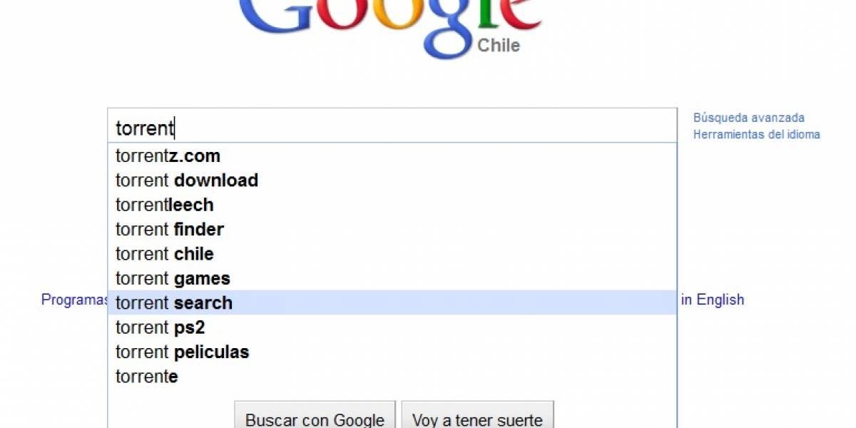 Google comienza a censurar las búsquedas de archivos Torrent y RapidShare