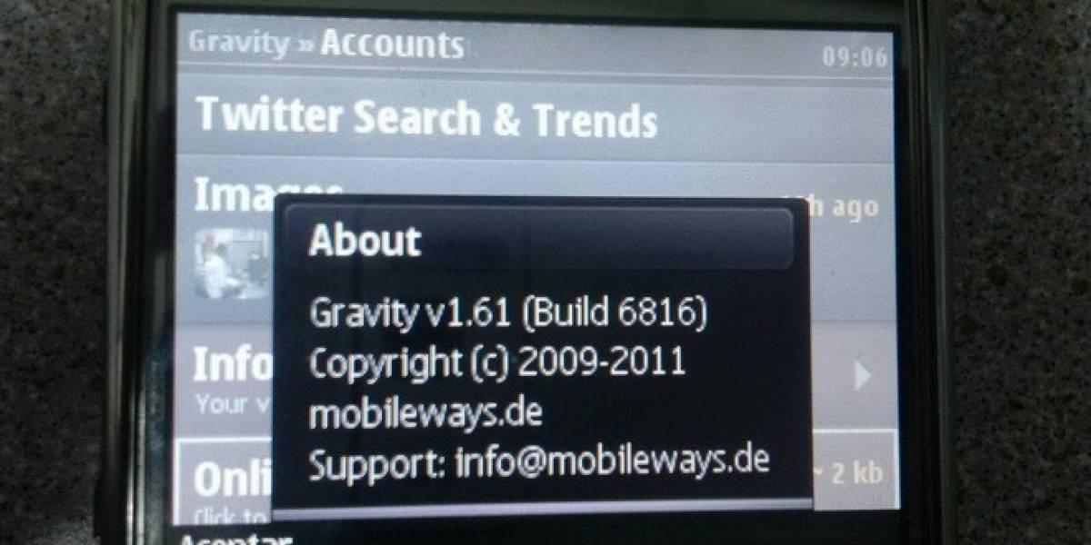 Desarrollador de Gravity para Symbian es removido del programa de desarrollo de Nokia