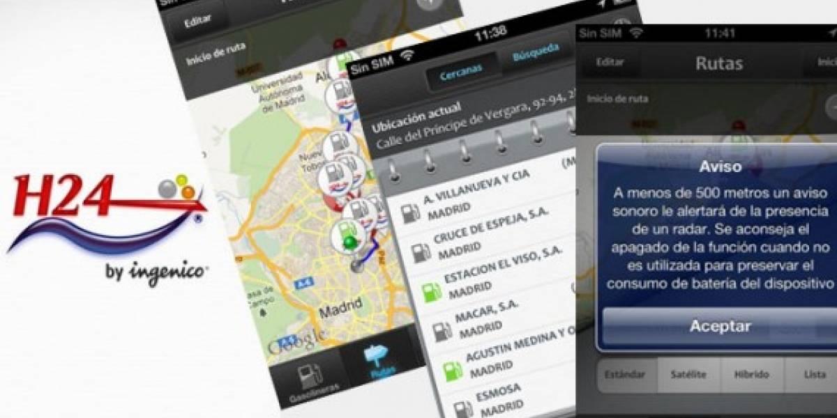 España: H24 te ayuda a buscar gasolineras y detectar radares con tu móvil
