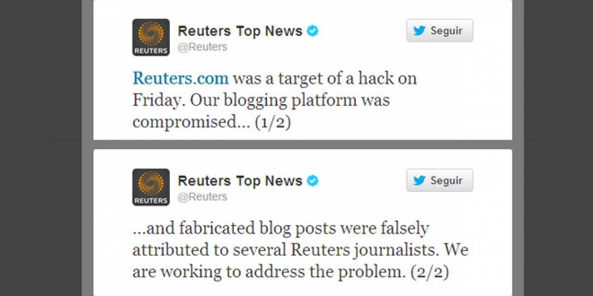 Hackean a Reuters para mostrar mensajes a favor del gobierno sirio