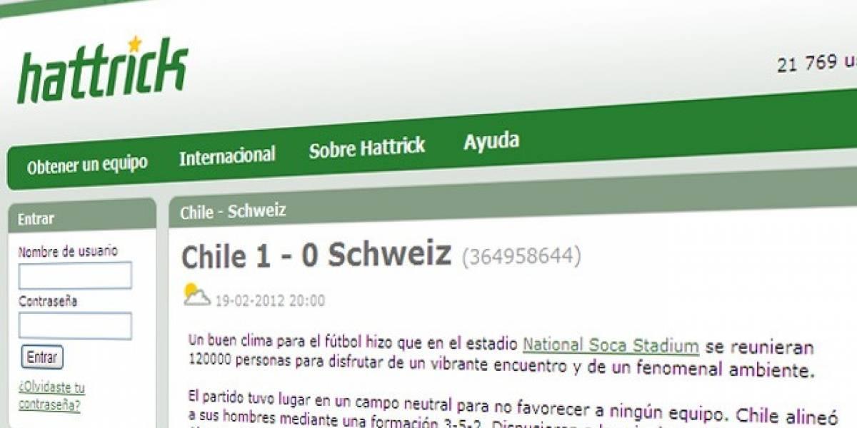 Chile se convirtió en el campeón mundial de Hattrick
