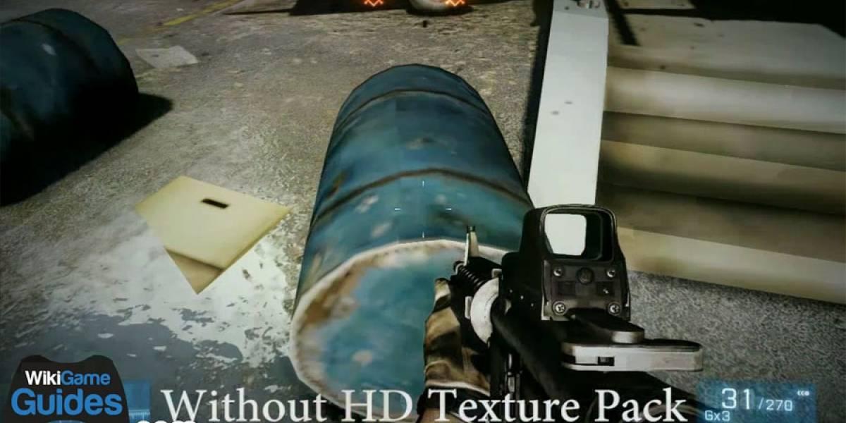 Video nos muestra cómo se ve Battlefield 3 en Xbox 360 sin instalar texturas HD