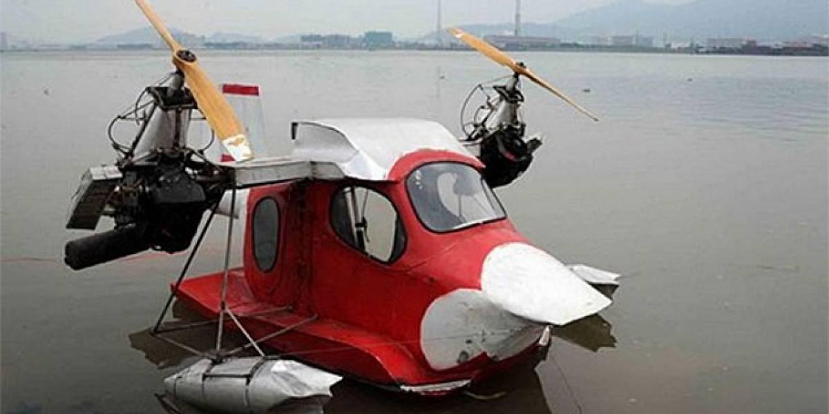 Chino fabricó hidroavión unipersonal instruyéndose sólo con revistas