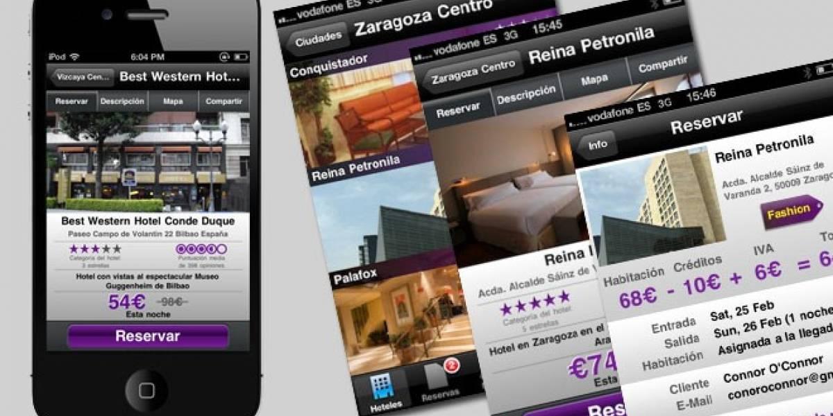 Hot.es: Reserva en hoteles españoles con ofertas de último minuto desde tu iPhone