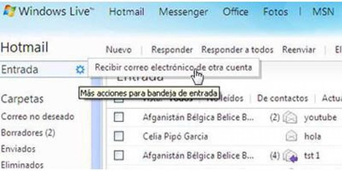 Mira lo que puedes hacer: maneja todas tus cuentas de correo desde Hotmail