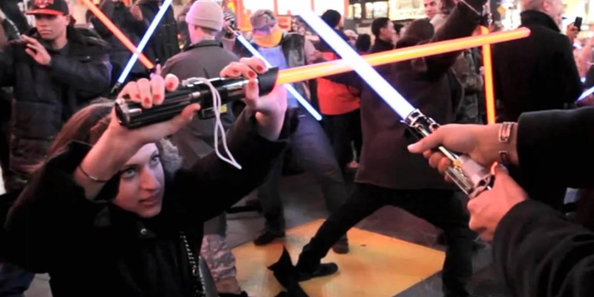 Jedis y Siths se enfrentan en Times Square