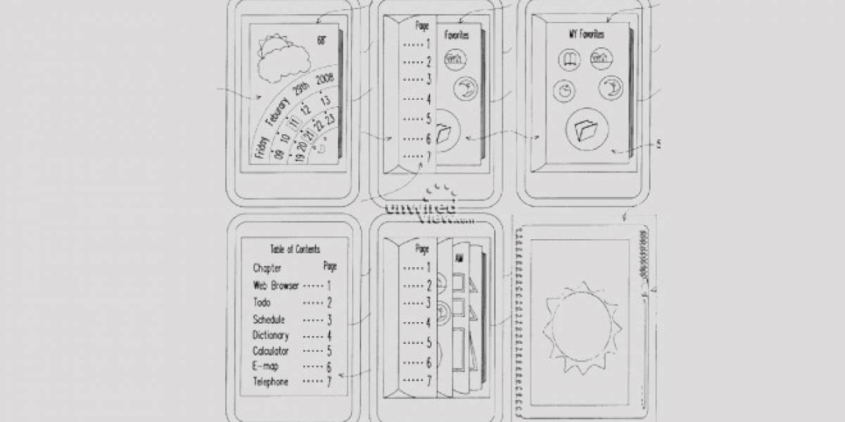HTC patenta nueva interfaz de usuario en base al índice de algunos libros antiguos