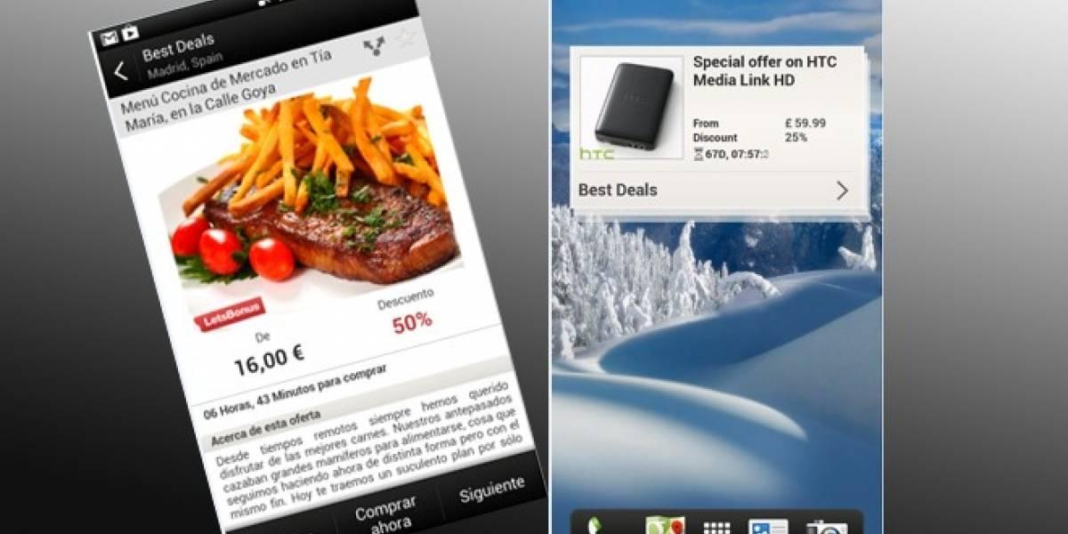 Best Deals: La aplicación de cupones de descuento para España de HTC