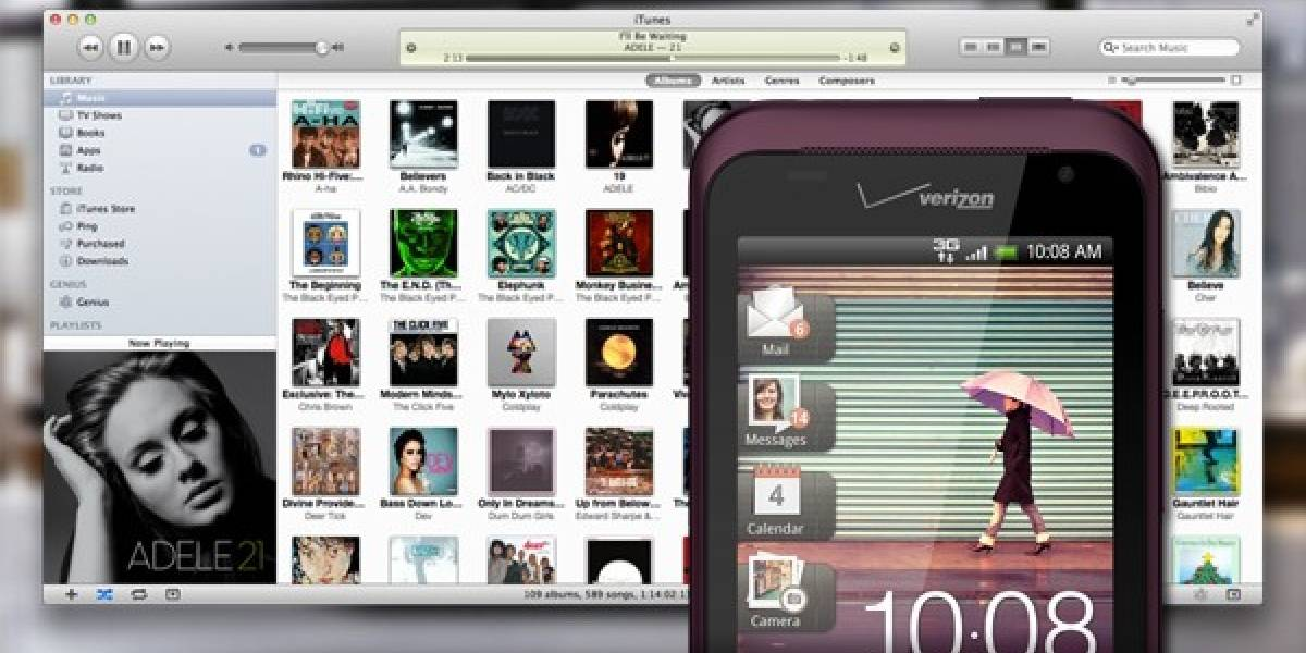 HTC Sync ahora permite sincronizar la biblioteca de iTunes con tu teléfono