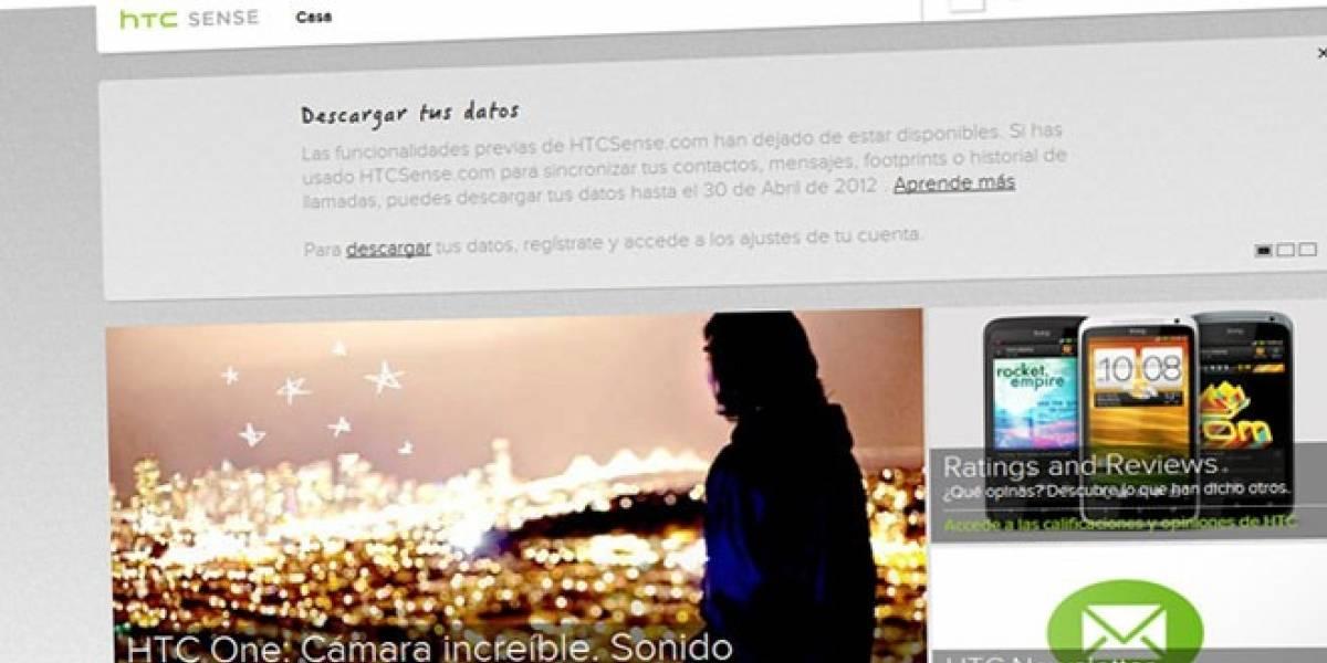 HTCSense.com cierra y tan solo da un mes para recuperar los datos de sus usuarios