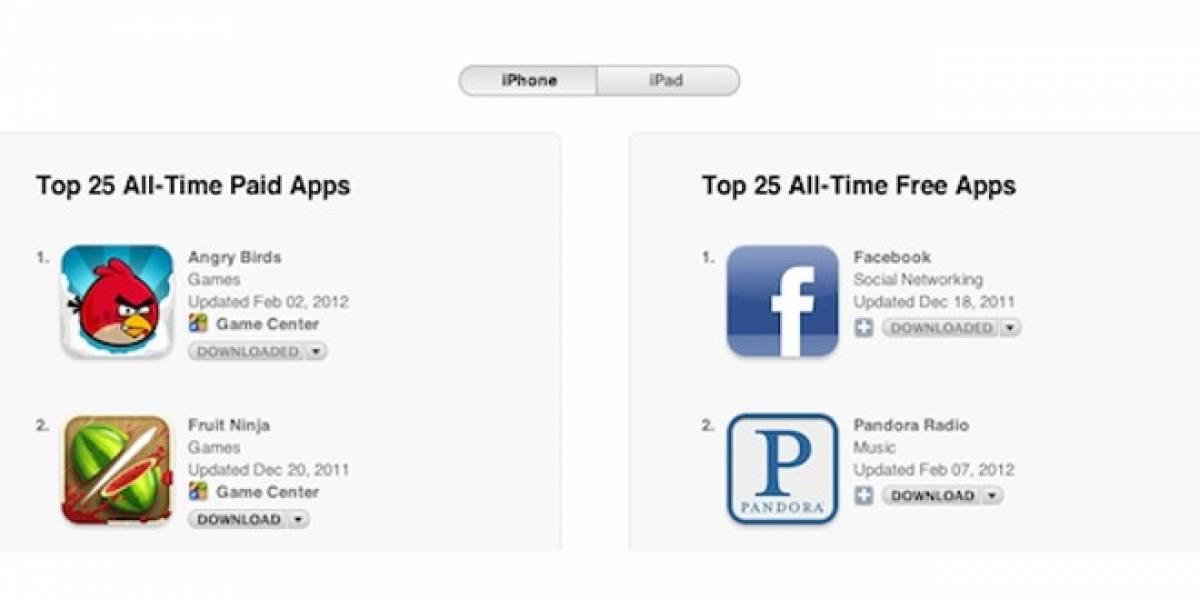 App Store de Apple alcanza las 25 mil millones de descargas