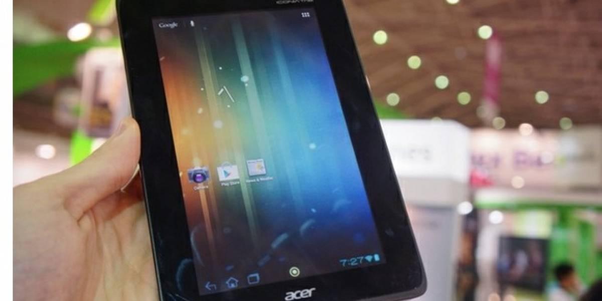 Acer anuncia tablet Android quad-core que cuesta menos de USD $200