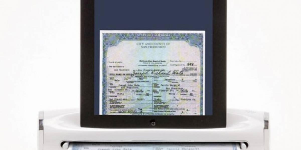 Convierte tu iPad en un escáner