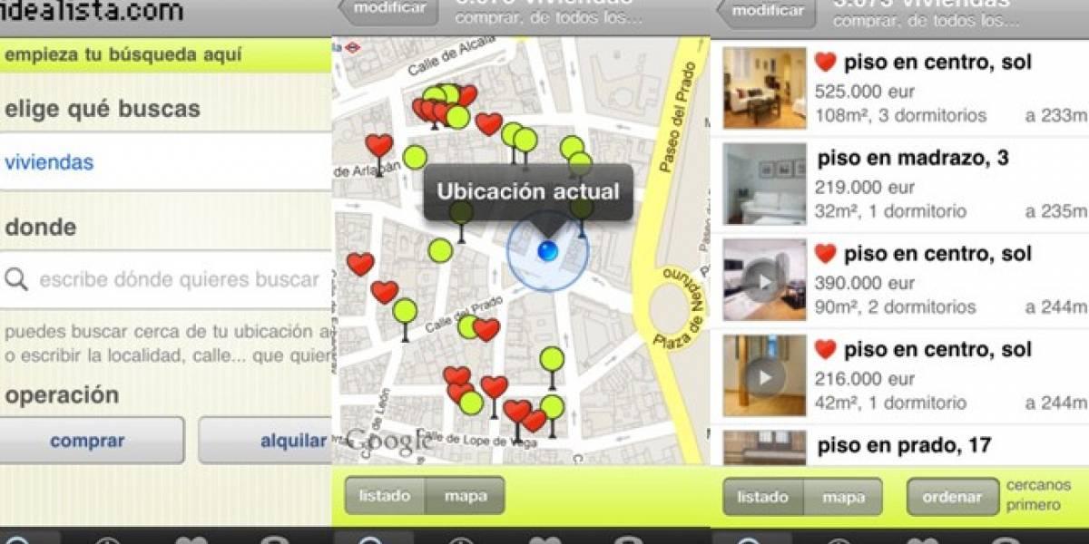 España: Idealista.com renueva su aplicación iOS
