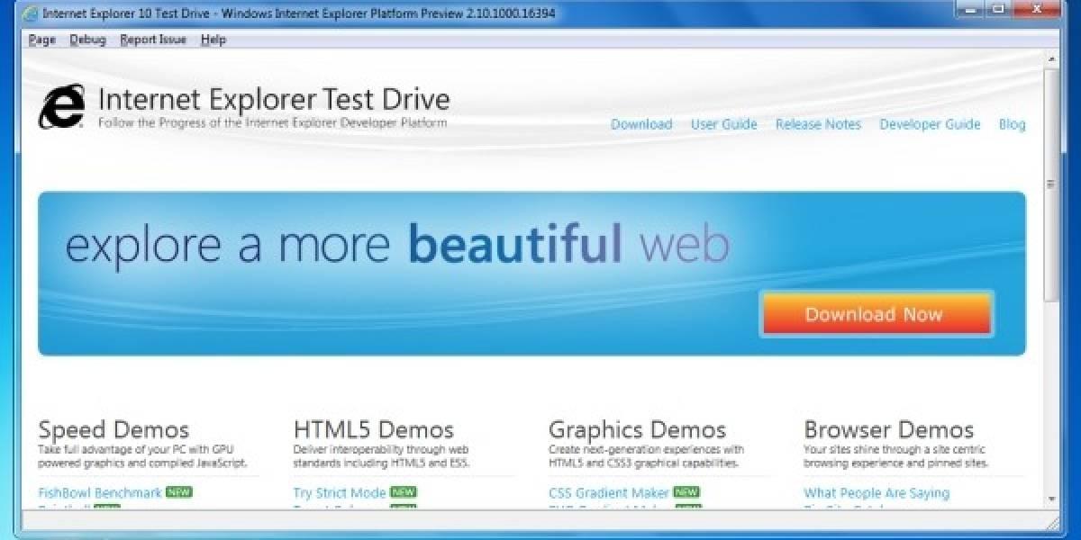 Microsoft muestra una primera vista de Internet Explorer 10