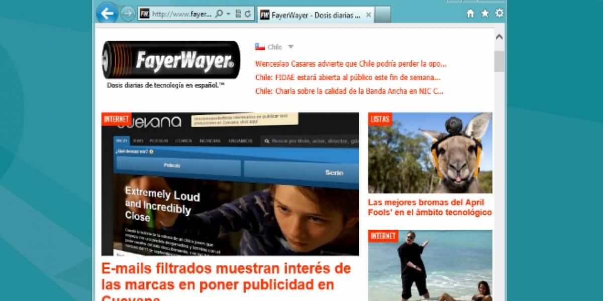 Internet Explorer aumentó su cuota de mercado durante el último mes